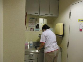土谷総合病院での作業の様子